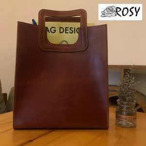 ROSY SHOPPER BAG CUT OUT HANDLE